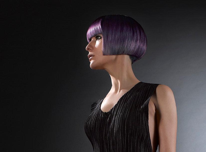 Short lilac bob hairstyle