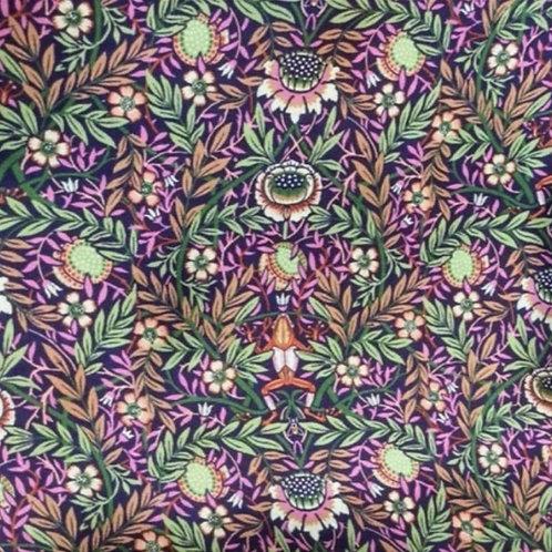 Plain Silk Face Covering - Peach Pincher Purple