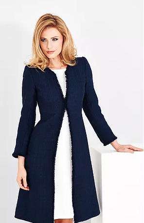 Navy Wool Coat and Dress by Couture Desi