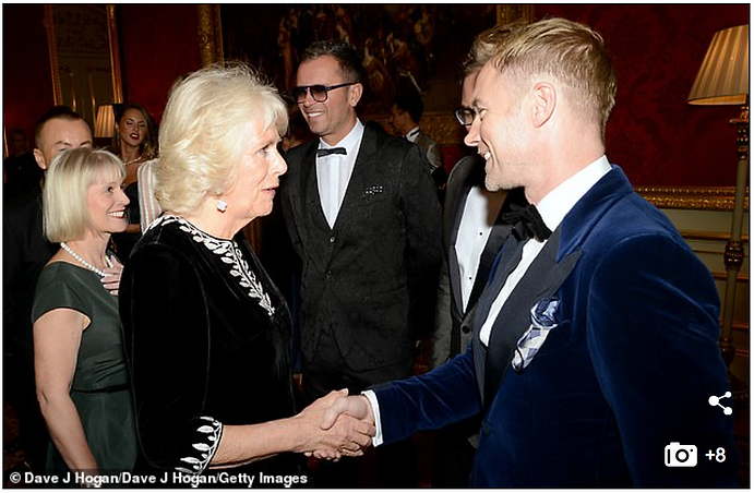 Duchess of Cornwall meets Ronan Keating