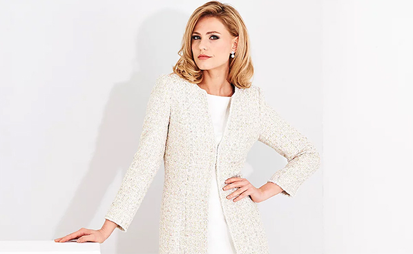 Cream Coat and Dress by Couture Designer