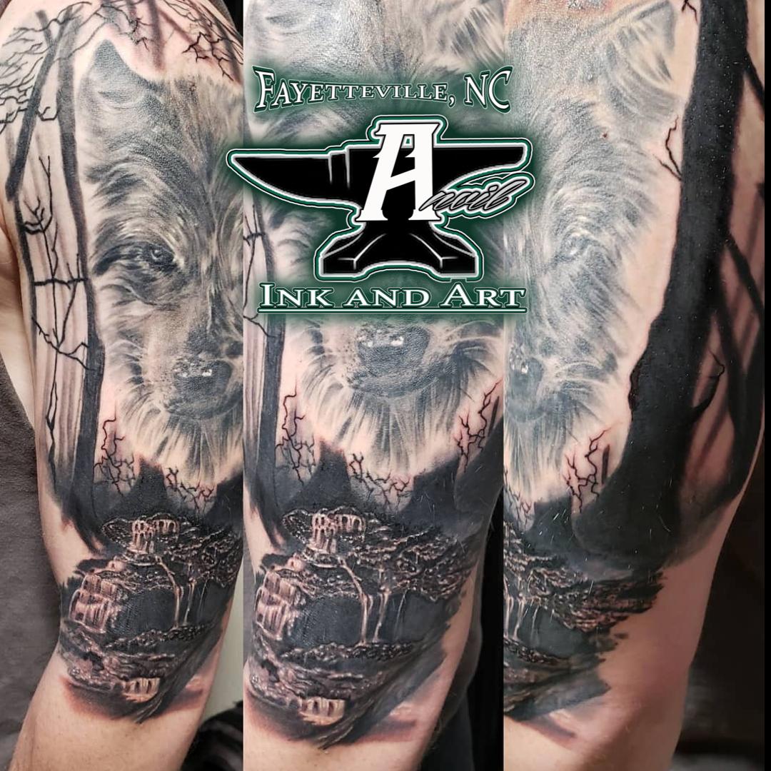 woodland scene tattoo