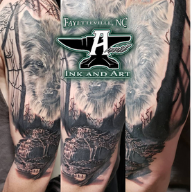 woodland scene tattoo