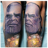 Mavel Avenge Thanos Tattoo.