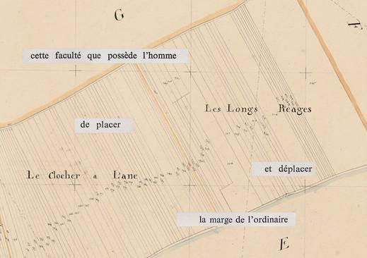 Mathilde Roux, Bords tracés 11, collage cadastre