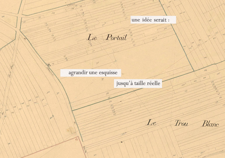 Mathilde Roux, Bords tracés 5, collage cadastre