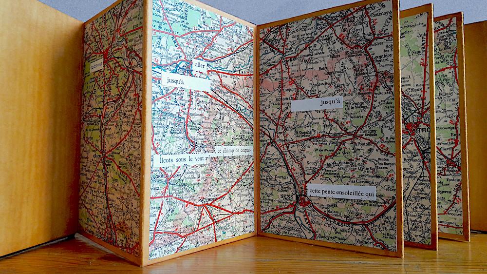 Mathilde Roux, Un champ de coquelicots, livre d'artiste