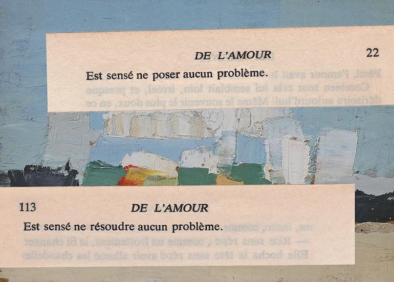 Mathilde Roux, De l'amour 24, collage