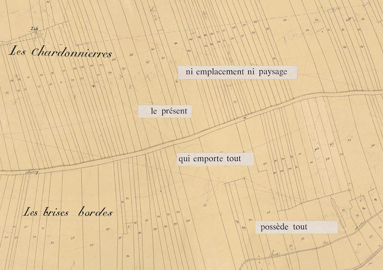 Mathilde Roux, Bords tracés 16, collage cadastre