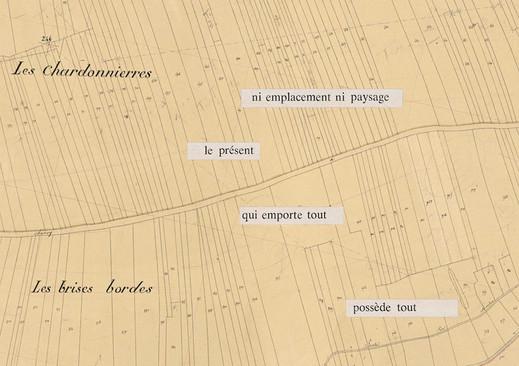 Mathilde Roux, Bords tracés 16, collage cadastre
