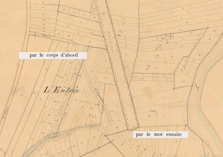 Mathilde Roux, Bords tracés 7, collage cadastre