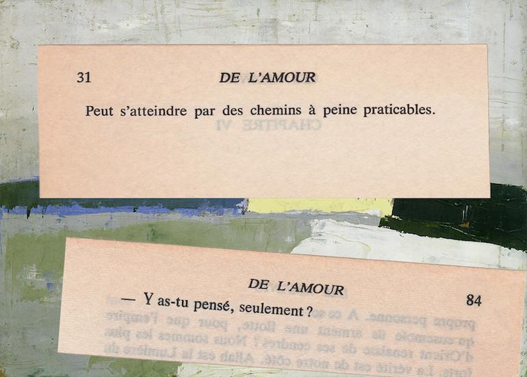 Mathilde Roux, De l'amour 20, collage