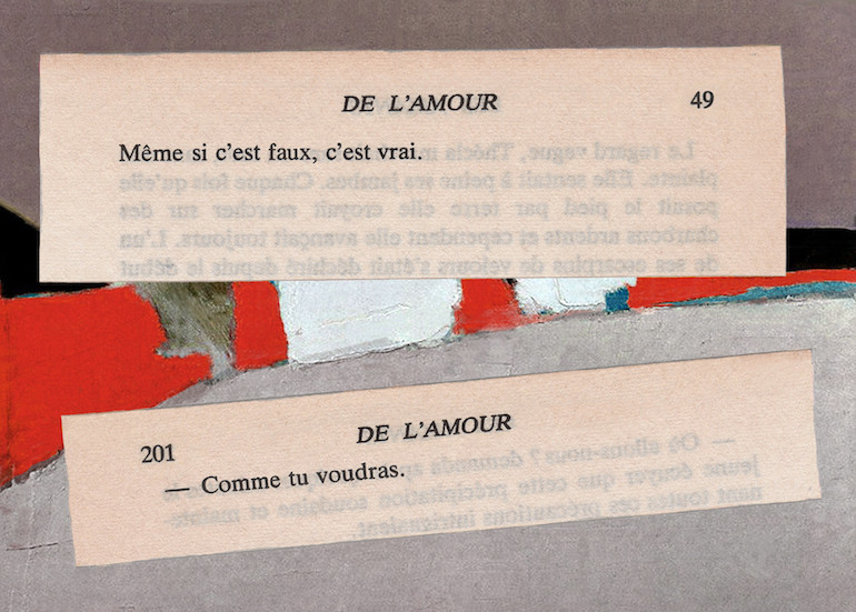 Mathilde Roux, De l'amour 16, collage
