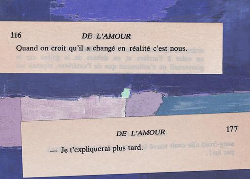 Mathilde Roux, De l'amour 25, collage