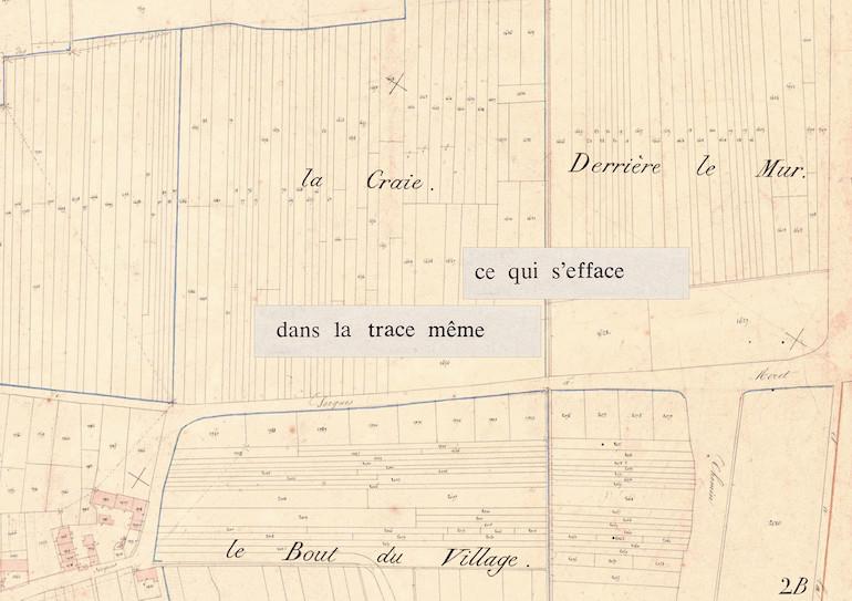 Mathilde Roux, Bords tracés 4, collage cadastre