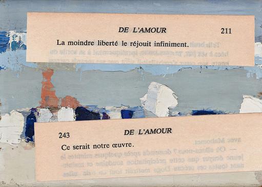 Mathilde Roux, De l'amour 21, collage
