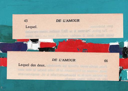 Mathilde Roux, De l'amour 10, collage
