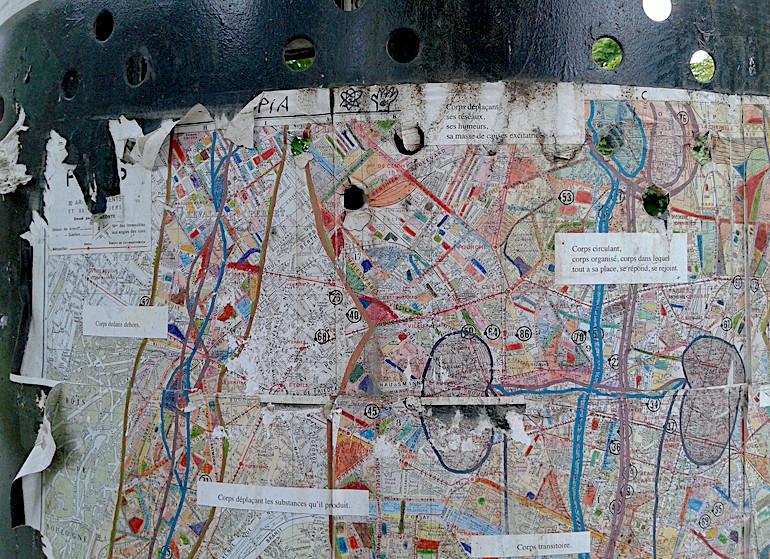 Mathilde Roux, Corps circulant, installation Plan de Paris