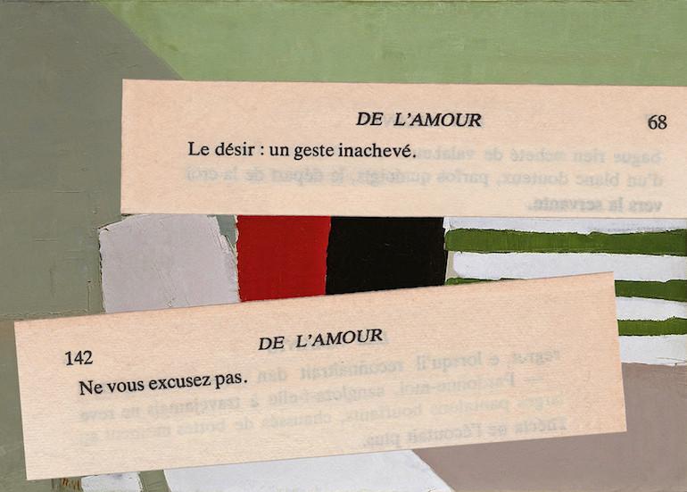 Mathilde Roux, De l'amour 9, collage