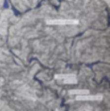 Mathilde Roux cartes augmentées de texte carte d'état-major collage