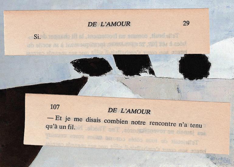 Mathilde Roux, De l'amour 11, collage