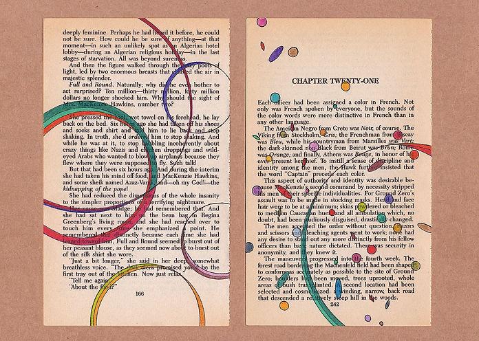 Overlays, pages de livres augmentées, Mathilde Roux 2020