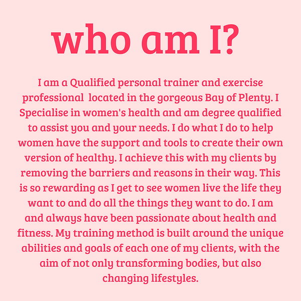 I am a Qualified personal trainer and ex
