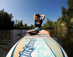 Paddleboarding on Belleville Lake