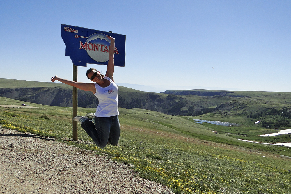 Jump shot / Beartooth Hwy, MT