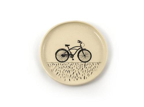 Talerz - rower na trawce №1