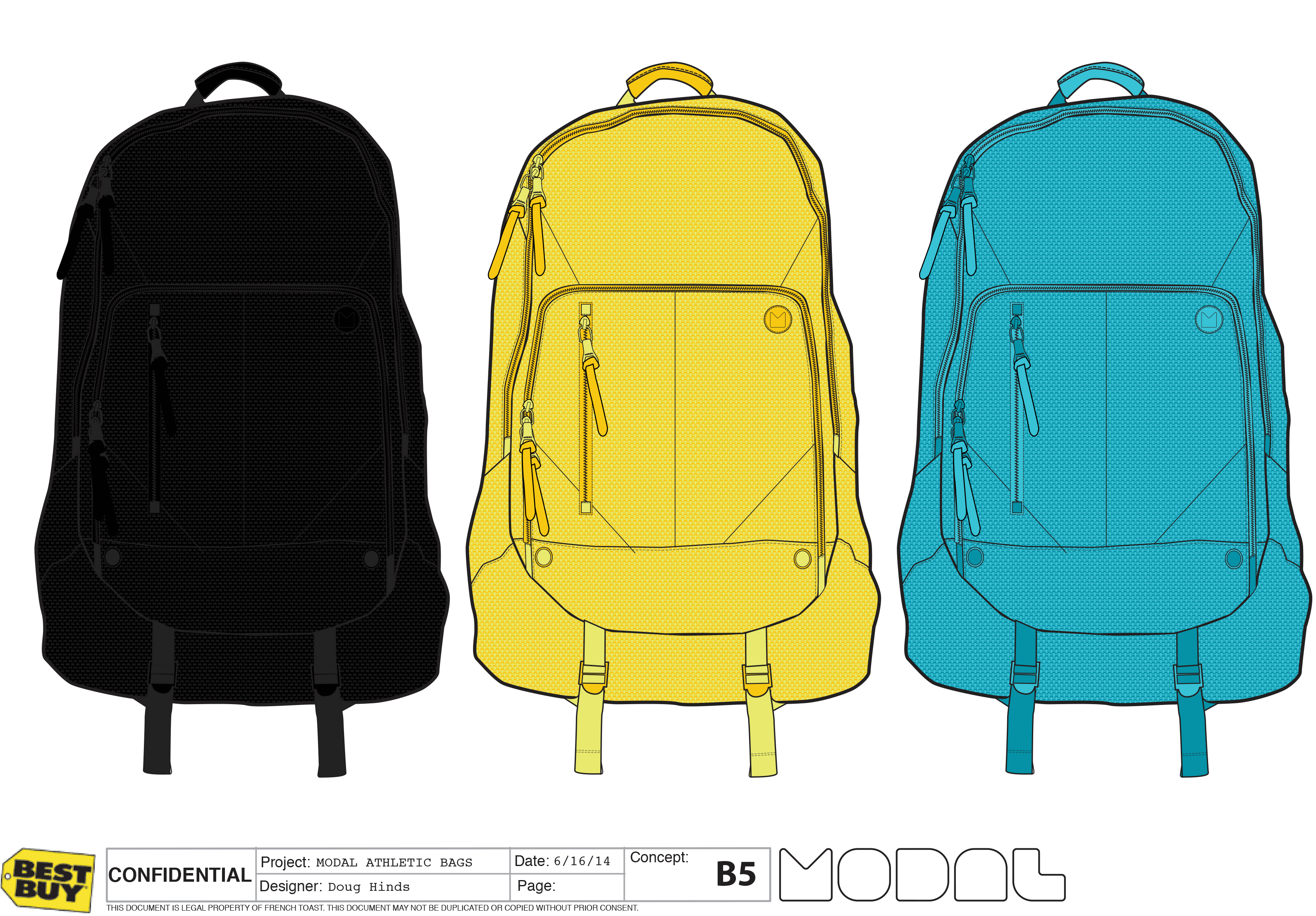 MODAL ATHLETIC BACKPACKS