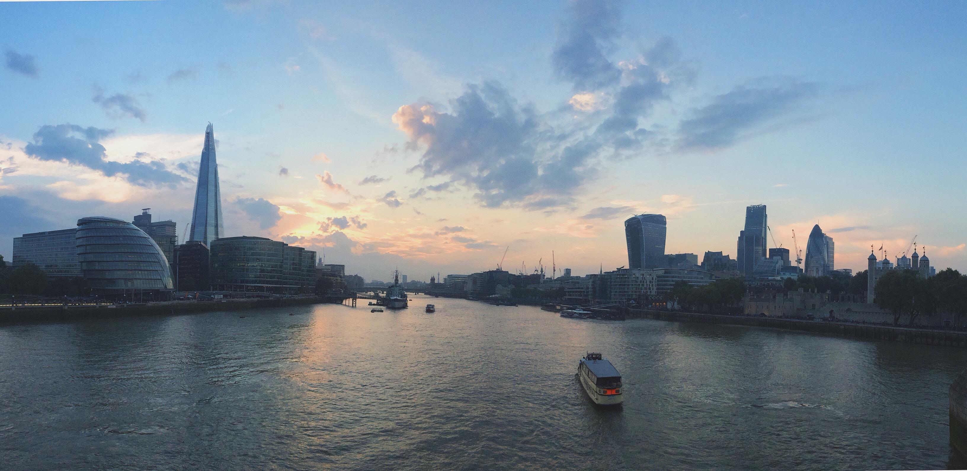 London as dusk.