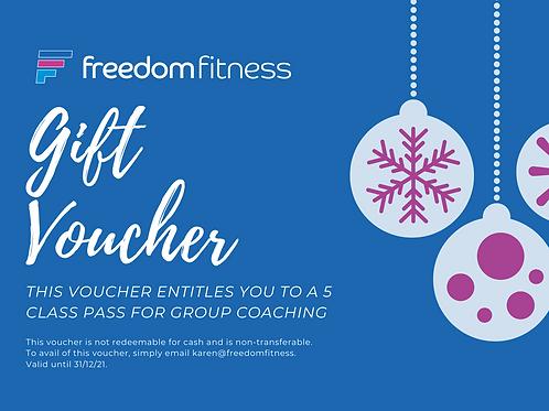 5 Class Pass Gift Voucher