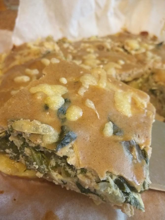 פשטידת מנגולד נהדרת עם קמח שקדים מופחת שומן ללא גלוטן שלנו