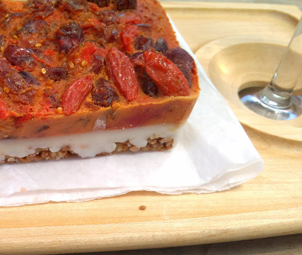 עוגת אגוזים, קוקוס ופירות יער – ללא אפייה. שקוף שזה טבעי