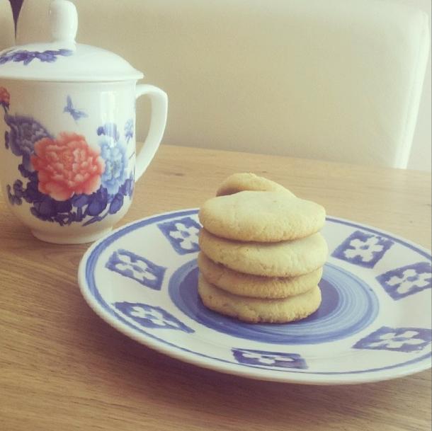 עוגיות חמאת קוקוס ווניל. כל כך טוב