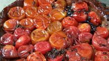 טארט טאטין עגבניות שרי בצק פריך דל פחממה ללא גלוטן, ללא סוכר