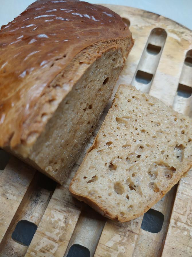 לחם שקדים אוורירי ונימוח, דל פחממה, עשיר בחלבון, ללא קמח, ללא גלוטן