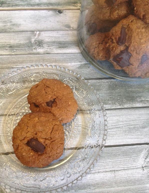 עוגיות שוקולד צ'יפס עם חמאת קוקוס