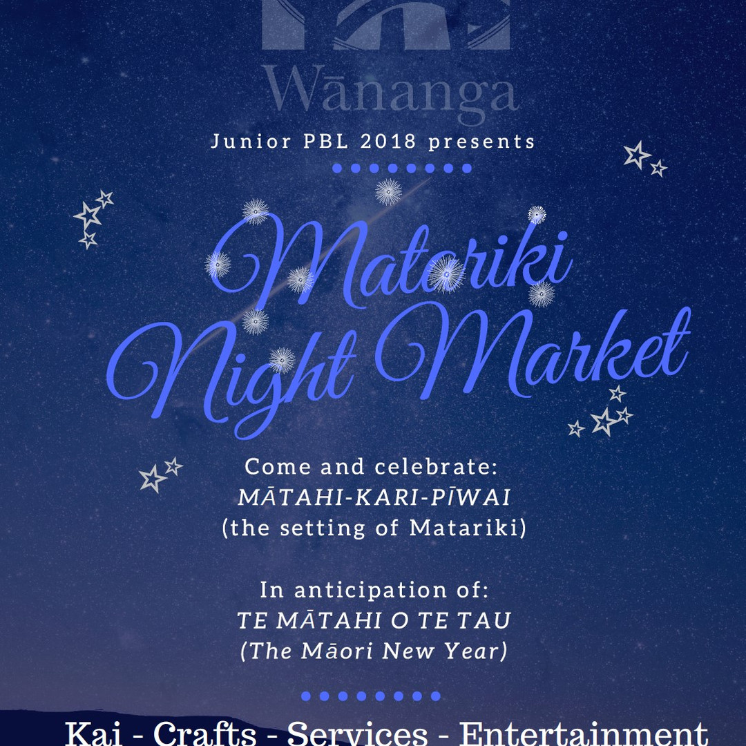 MATARIKI NIGHT MARKETS - JUNIOR PBL
