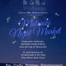 MATARIKI NIGHT MARKETS - JUNIOR PBL