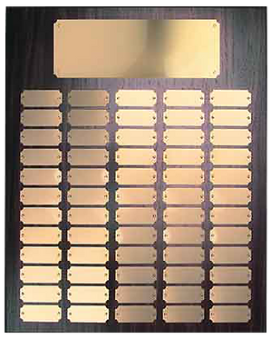 60 Gold Plate Walnut Finish Perpetual Plaque