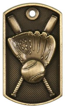 Baseball 3-D Dog Tags - DT201