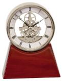 Executive Rosewood Piano/Silver Piano Finish Clock