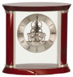 Executive Rosewood/Silver Piano Finish Clock