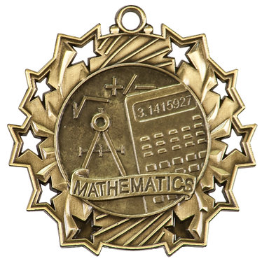 Math Ten Star Medal