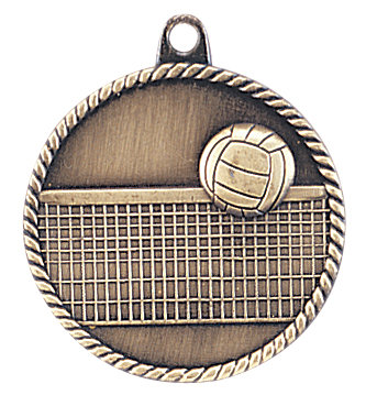 Volleyball High Relief Medal - HR765