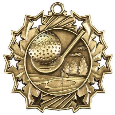 Golf Ten Star Medal