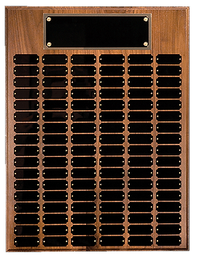 102 Plate Genuine Walnut Perpetual Plaque