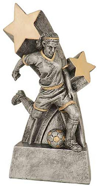 Female Soccer Super Star Resin
